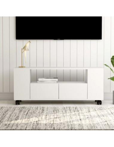 Televizoriaus spintelė, baltos spalvos, 120x35x43cm, MDP | Pramogų Centrai ir TV Stovai | duodu.lt