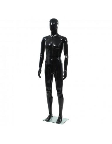 Vyriškas manekenas, stiklo pagr., blizgus juodas, 185cm  | Parodomieji Manekenai | duodu.lt