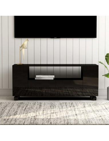 Televizoriaus spintelė, juoda, 120x35x43cm, MDP, ypač blizgi | Pramogų Centrai ir TV Stovai | duodu.lt