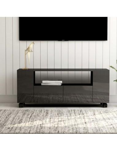 Televizoriaus spintelė, pilka, 120x35x43cm, MDP, ypač blizgi   Pramogų Centrai ir TV Stovai   duodu.lt