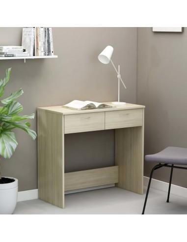 Rašomasis stalas, sonoma ąžuolo spalvos, 80x40x75cm, MDP | Rašomieji Stalai | duodu.lt