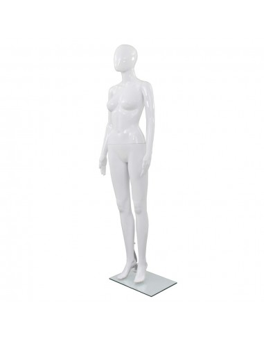 Moteriškas manekenas, stiklo pagrindas, blizgus, baltas, 175cm    Parodomieji Manekenai   duodu.lt