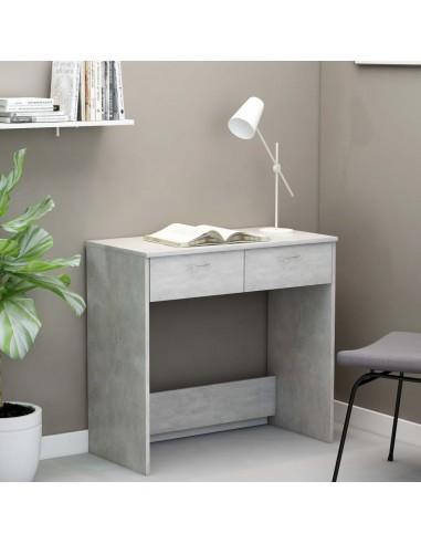Rašomasis stalas, betono pilkos spalvos, 80x40x75cm, MDP | Rašomieji Stalai | duodu.lt
