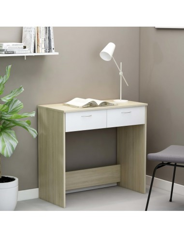 Rašomasis stalas, baltos ir ąžuolo spalvos, 80x40x75cm, MDP   Rašomieji Stalai   duodu.lt