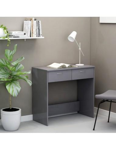 Rašomasis stalas, pilkos spalvos, 80x40x75cm, MDP, ypač blizgus | Rašomieji Stalai | duodu.lt