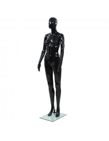 Moteriškas manekenas, stiklo pagr., blizgus juodas, 175cm  | Parodomieji Manekenai | duodu.lt