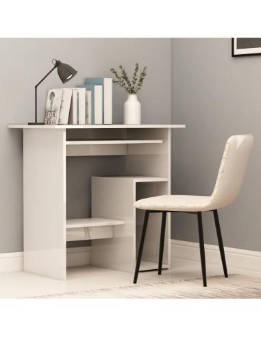 Rašomasis stalas, baltos spalvos, 80x45x74cm, MDP, ypač blizgus   Rašomieji Stalai   duodu.lt