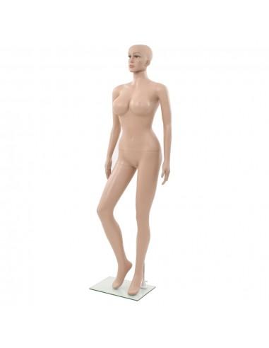 Seksualus moteriškas manekenas, stiklo pagr., krem. sp., 180cm  | Parodomieji Manekenai | duodu.lt