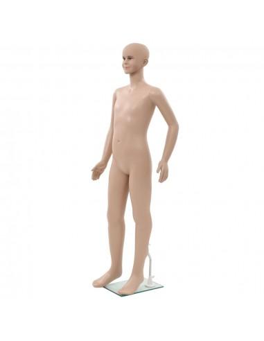 Vaikiškas manekenas, stiklo pagrindas, smėlio spalvos, 140cm  | Parodomieji Manekenai | duodu.lt