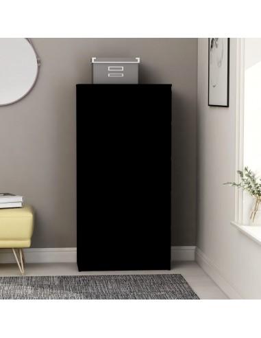 Šoninė spintelė su stalčiais, juodos spalvos, 60x35x121cm, MDP | Bufetai ir spintelės | duodu.lt