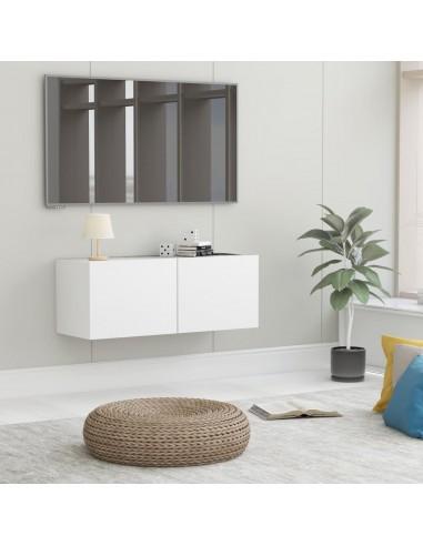 Televizoriaus spintelė, baltos spalvos, 80x30x30cm, MDP | Pramogų Centrai ir TV Stovai | duodu.lt