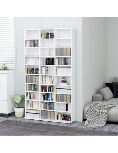 Spintelė kompaktiniams diskams, balta, 102x23x177,5cm, MDP | Multimedijos spintelės ir laikikliai | duodu.lt