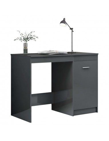 Rašomasis stalas, pilkas, 100x50x76cm, MDP, ypač blizgus | Rašomieji Stalai | duodu.lt