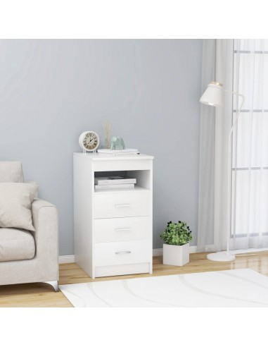 Spintelė su stalčiais, baltos spalvos, 40x50x76cm, MDP | Spintos ir biuro spintelės | duodu.lt