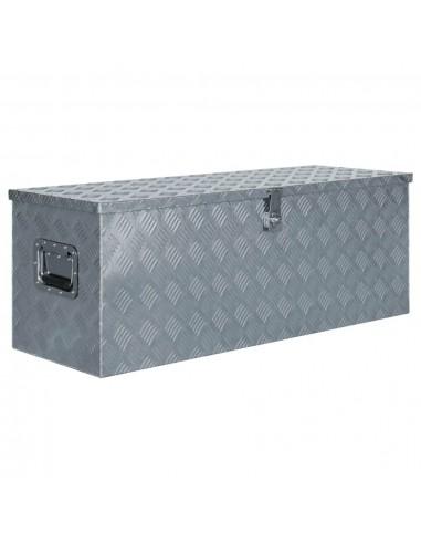 Aliuminio dėžė, 110,5x38,5x40cm, sidabrinė | Įrankių Dėžės | duodu.lt