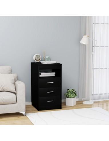 Spintelė su stalčiais, juodos spalvos, 40x50x76cm, MDP | Spintos ir biuro spintelės | duodu.lt