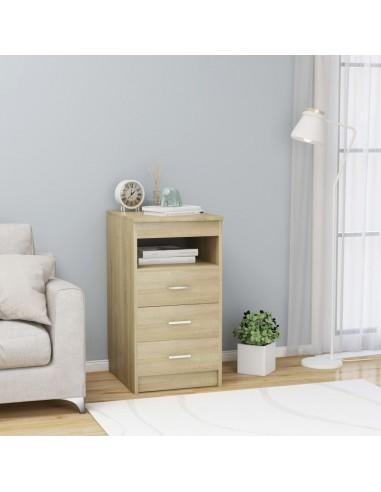 Spintelė su stalčiais, sonoma ąžuolo spalvos, 40x50x76cm, MDP | Spintos ir biuro spintelės | duodu.lt