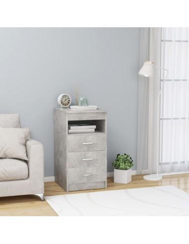 Spintelė su stalčiais, betono pilkos spalvos, 40x50x76cm, MDP | Spintos ir biuro spintelės | duodu.lt