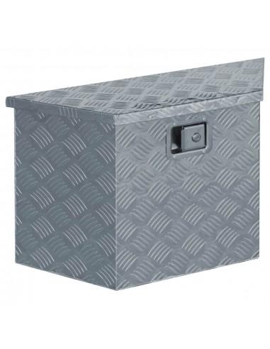 Aliuminio dėžė, 70x24x42cm, trapecijos formos, sidabrinė | Įrankių Dėžės | duodu.lt