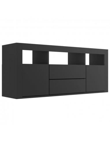 Televizoriaus spintelė, juodos spalvos, 120x30x50cm, MDP   Pramogų Centrai ir TV Stovai   duodu.lt