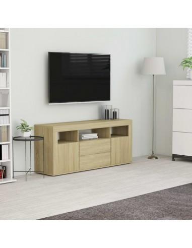 Televizoriaus spintelė, sonoma ąžuolo spalvos, 120x30x50cm, MDP   Pramogų Centrai ir TV Stovai   duodu.lt