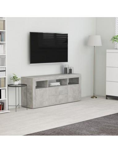 Televizoriaus spintelė, betono pilkos spalvos, 120x30x50cm, MDP | Pramogų Centrai ir TV Stovai | duodu.lt