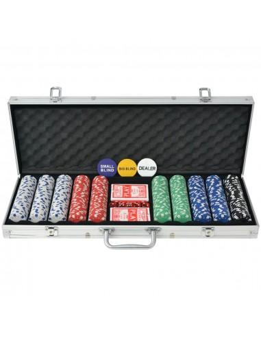 Pokerio rinkinys su 500 žetonų, aliuminis | Pokerio Žetonai ir Rinkiniai | duodu.lt