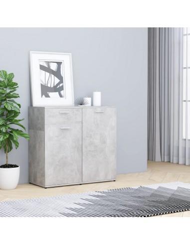Šoninė spintelė, betono pilkos spalvos, 80x36x75cm, MDP   Bufetai ir spintelės   duodu.lt