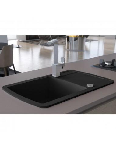 Virtuvinė plautuvė, granitas, vieno dubens, juoda | Virtuvės ir Ūkinės Paskirties Plautuvės | duodu.lt