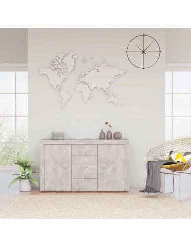 Šoninė spintelė, betono pilkos spalvos, 120x36x69cm, MDP   Bufetai ir spintelės   duodu.lt