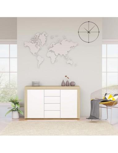 Šoninė spintelė, baltos ir ąžuolo spalvos, 120x36x69cm, MDP | Bufetai ir spintelės | duodu.lt