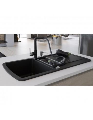 Virtuvinė plautuvė, granitas, du dubenys, juoda    Virtuvės ir Ūkinės Paskirties Plautuvės   duodu.lt