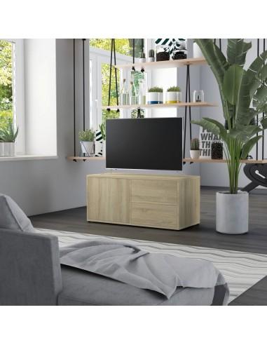Televizoriaus spintelė, sonoma ąžuolo spalvos, 80x34x36cm, MDP   Pramogų Centrai ir TV Stovai   duodu.lt