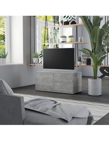 Televizoriaus spintelė, betono pilkos spalvos, 80x34x36cm, MDP | Pramogų Centrai ir TV Stovai | duodu.lt