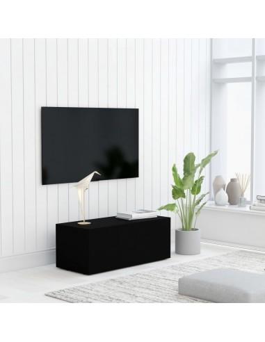 Televizoriaus spintelė, juodos spalvos, 80x34x30cm, MDP | Pramogų Centrai ir TV Stovai | duodu.lt