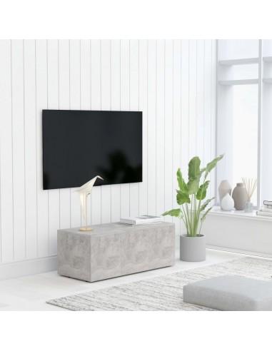 Televizoriaus spintelė, betono pilkos spalvos, 80x34x30cm, MDP   Pramogų Centrai ir TV Stovai   duodu.lt