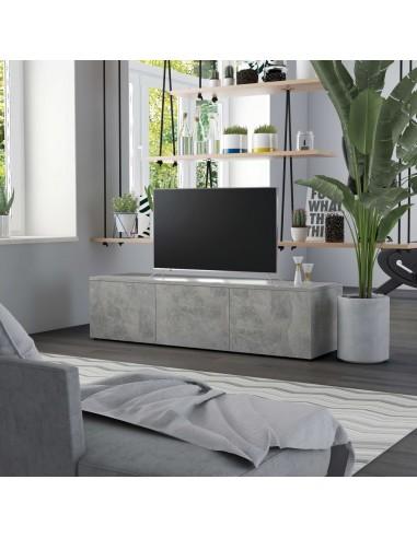 Televizoriaus spintelė, betono pilkos spalvos, 120x34x30cm, MDP | Pramogų Centrai ir TV Stovai | duodu.lt