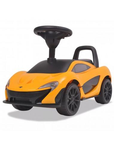 Vaikiškas automobilis McLaren P1, geltonos spalvos   Stumiamos ir Pedalais Minamos Transporto Priemonės   duodu.lt