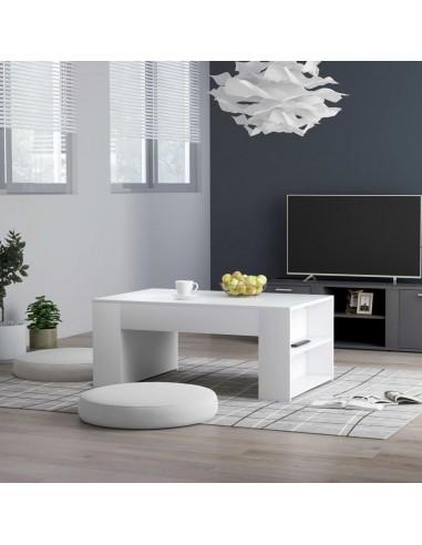 Kavos staliukas, baltos spalvos, 100x60x42cm, MDP | Kavos Staliukai | duodu.lt