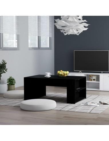 Kavos staliukas, juodos spalvos, 100x60x42cm, MDP | Kavos Staliukai | duodu.lt
