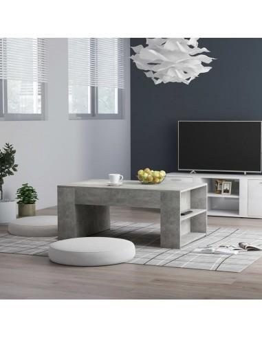Kavos staliukas, betono pilkos spalvos, 100x60x42cm, MDP | Kavos Staliukai | duodu.lt