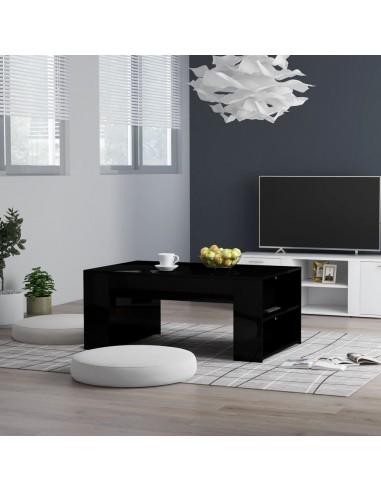 Kavos staliukas, juodos spalvos, 100x60x42cm, MDP, blizgus | Kavos Staliukai | duodu.lt