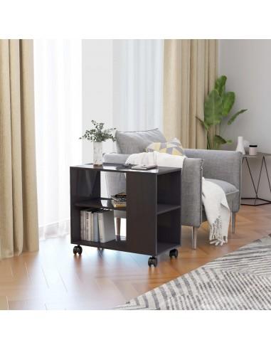 Šoninis staliukas, pilkas, 70x35x55cm, MDP, ypač blizgus | Žurnaliniai Staliukai | duodu.lt