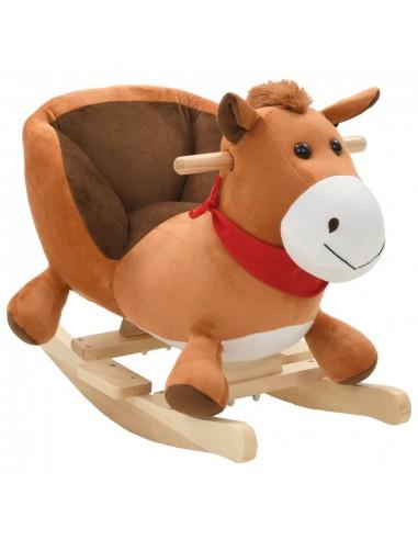 Supamas gyvūnas su atlošu, arkliuk., pliušas, 60x32x50cm, rudas   Supamieji Žaislai   duodu.lt