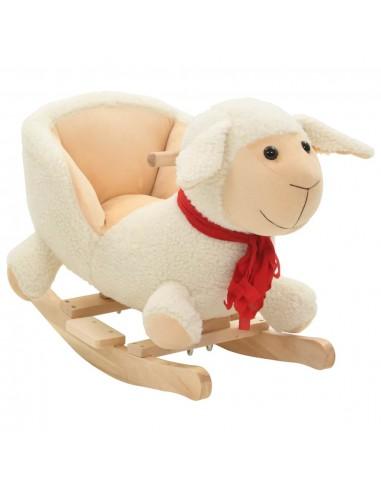 Supamas gyvūnas su atlošu, avis, pliušas, 60x32x50cm, baltas | Supamieji Žaislai | duodu.lt