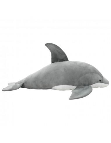 Minkštas žaislinis delfinas, pilkas, pliušinis | Pliušiniai gyvūnai | duodu.lt