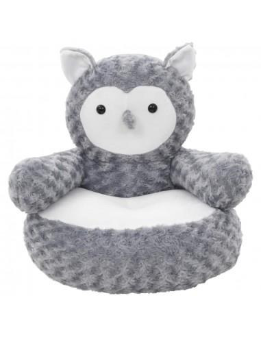 Minkštas žaislas pelėda, pilkas, pliušinis   Pliušiniai gyvūnai   duodu.lt