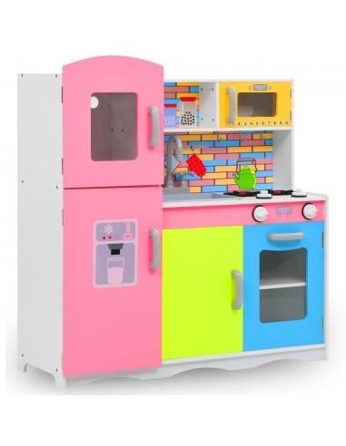 Vaikiška virtuvėlė, įvairių spalvų, 80x30x85cm, MDF   Žaislinės virtuvės ir žaislinis maistas   duodu.lt
