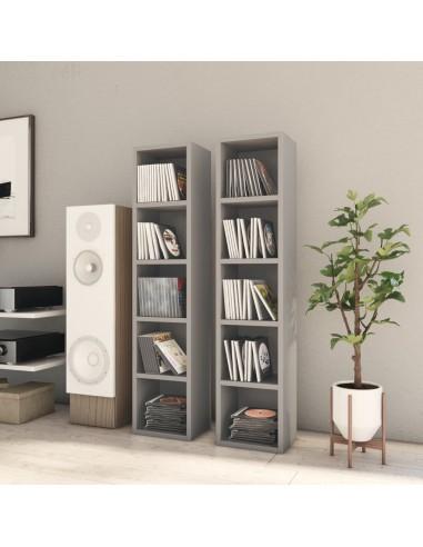 Spintelės kompaktiniam diskam, 2vnt., pilkos, 21x16x93,5cm, MDP   Multimedijos spintelės ir laikikliai   duodu.lt