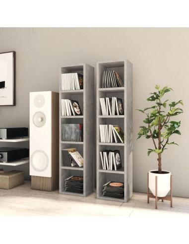 Spintelės kompaktiniam diskam, 2vnt., pilkos, 21x16x93,5cm, MDP | Multimedijos spintelės ir laikikliai | duodu.lt